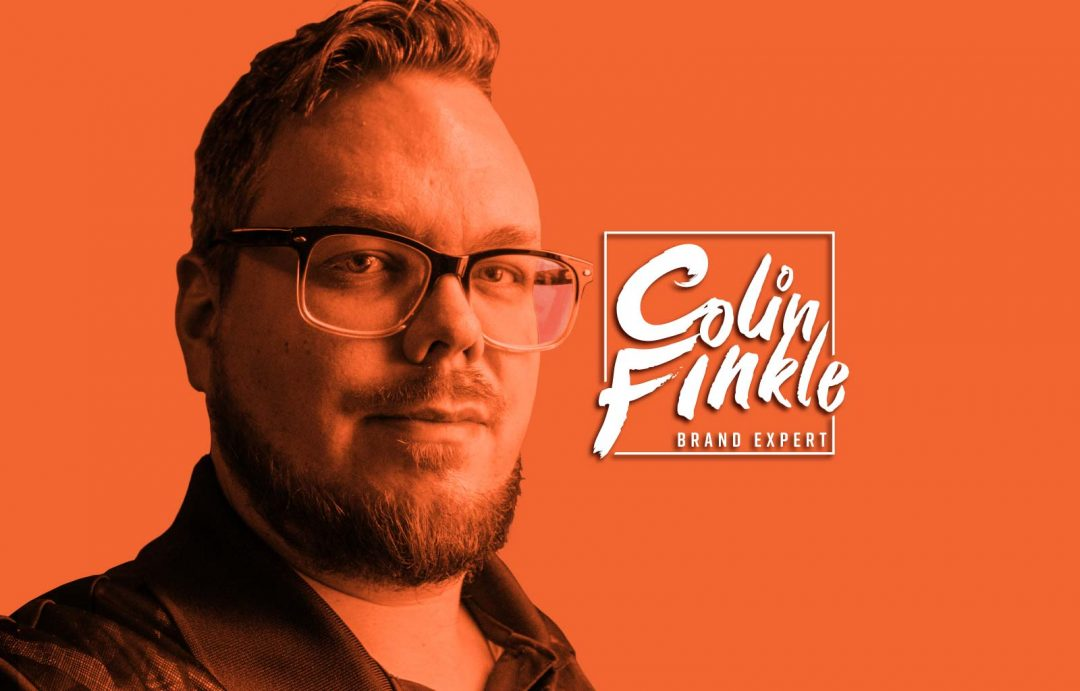 Image of Colin Finkle in Orange and Colin Finkle's personal brand logo