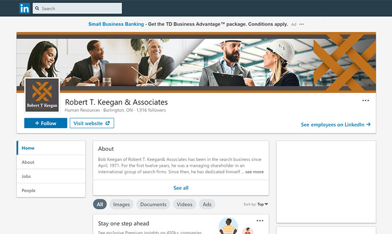 Robert& Associates LinkedIn page.