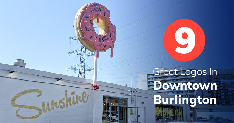 9 Small Businesses with Great Logo Designs in Burlington's Downtown
